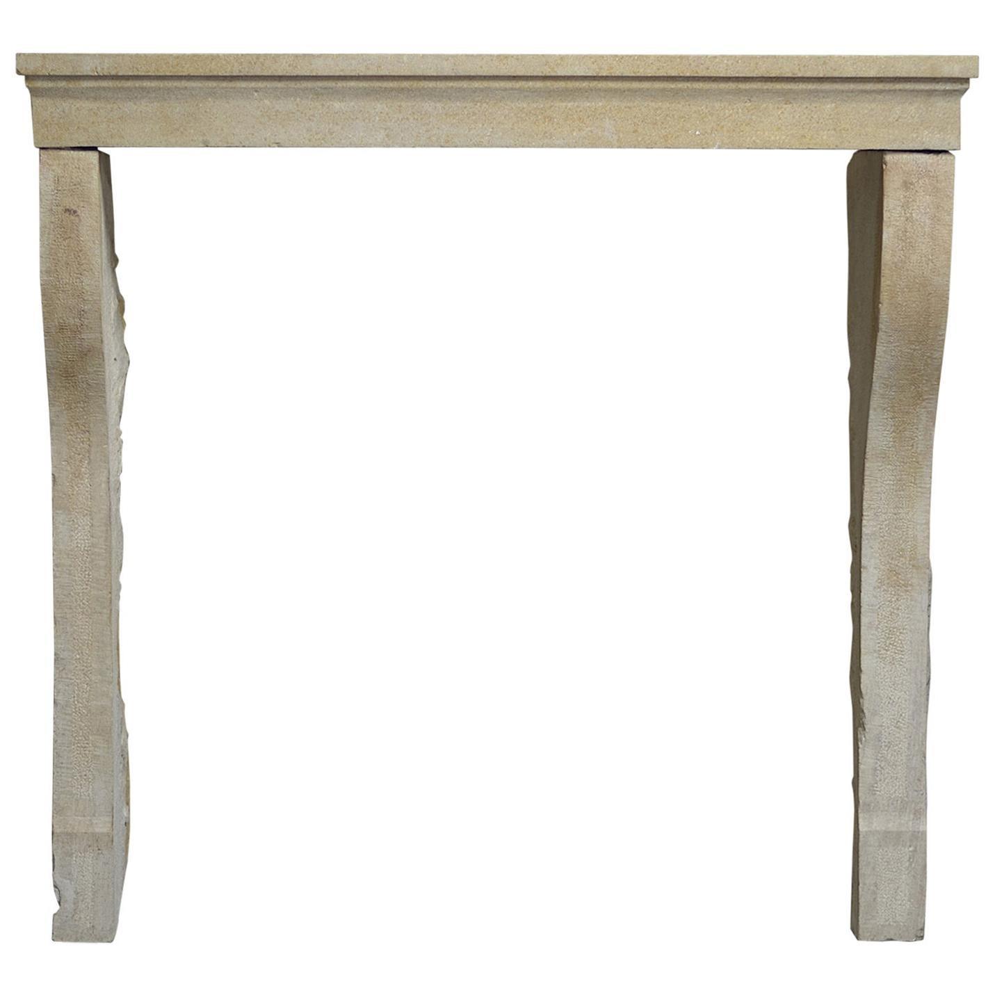 Antique Limestone Fireplace Mantel