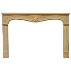 Antique Limestone Louis XV Fireplace Mantel