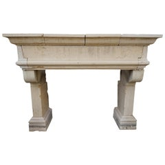 Antique Limestone Mantel, circa 1820