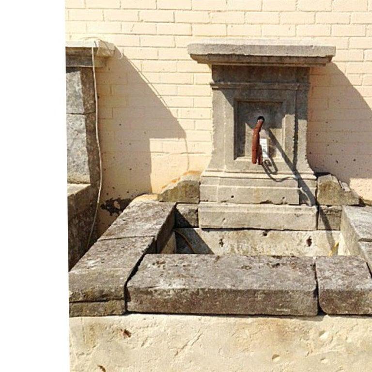 Antique Limestone Wall Fountain, circa 1850 In Good Condition For Sale In Dallas, TX