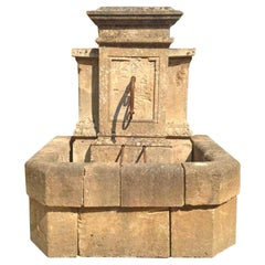 Antique Limestone Wall Fountain, circa 1850