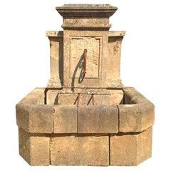 Antique Limestone Wall Fountain, circa 1850