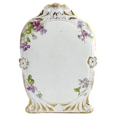Antique Limoges Purple Floral Gilt Menu