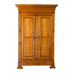 Antique Linen Press, French, Chestnut, Cupboard, Wardrobe, circa 1850