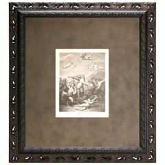 """Lithograph """"Galatea"""" after Raphael's Triumph of Galatea, Framed, 19th Century"""