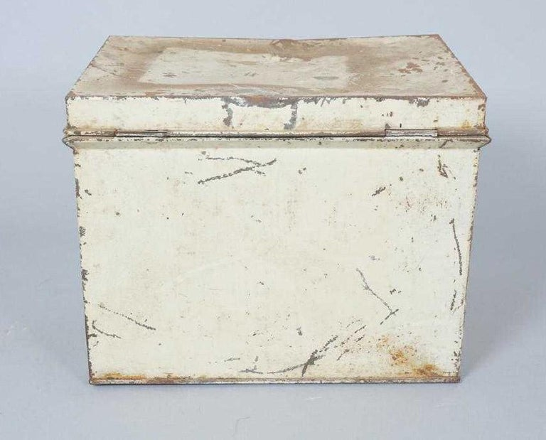 20th Century Antique Lithographed Tin Bread Box For Sale