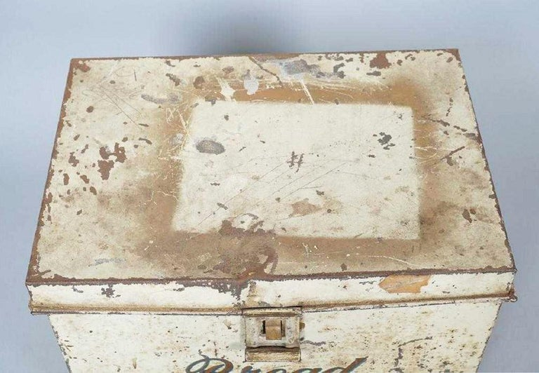 Antique Lithographed Tin Bread Box For Sale 2