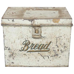 Antique Lithographed Tin Bread Box