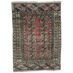 Antique little boukhara Turkmen rug