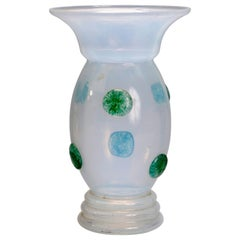 Loetz School Handcrafted Art Glass Vase with Applied Decoration, circa 1920