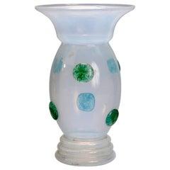 Loetz School Handcrafted Art Glass Vase with Applied Decoration, circa 1920