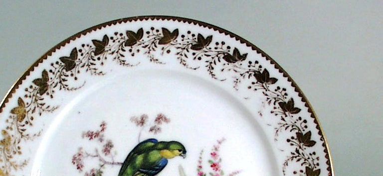Antique & Rare London-Decorated Paris Porcelain Plate Probably by Thomas Randall For Sale 4