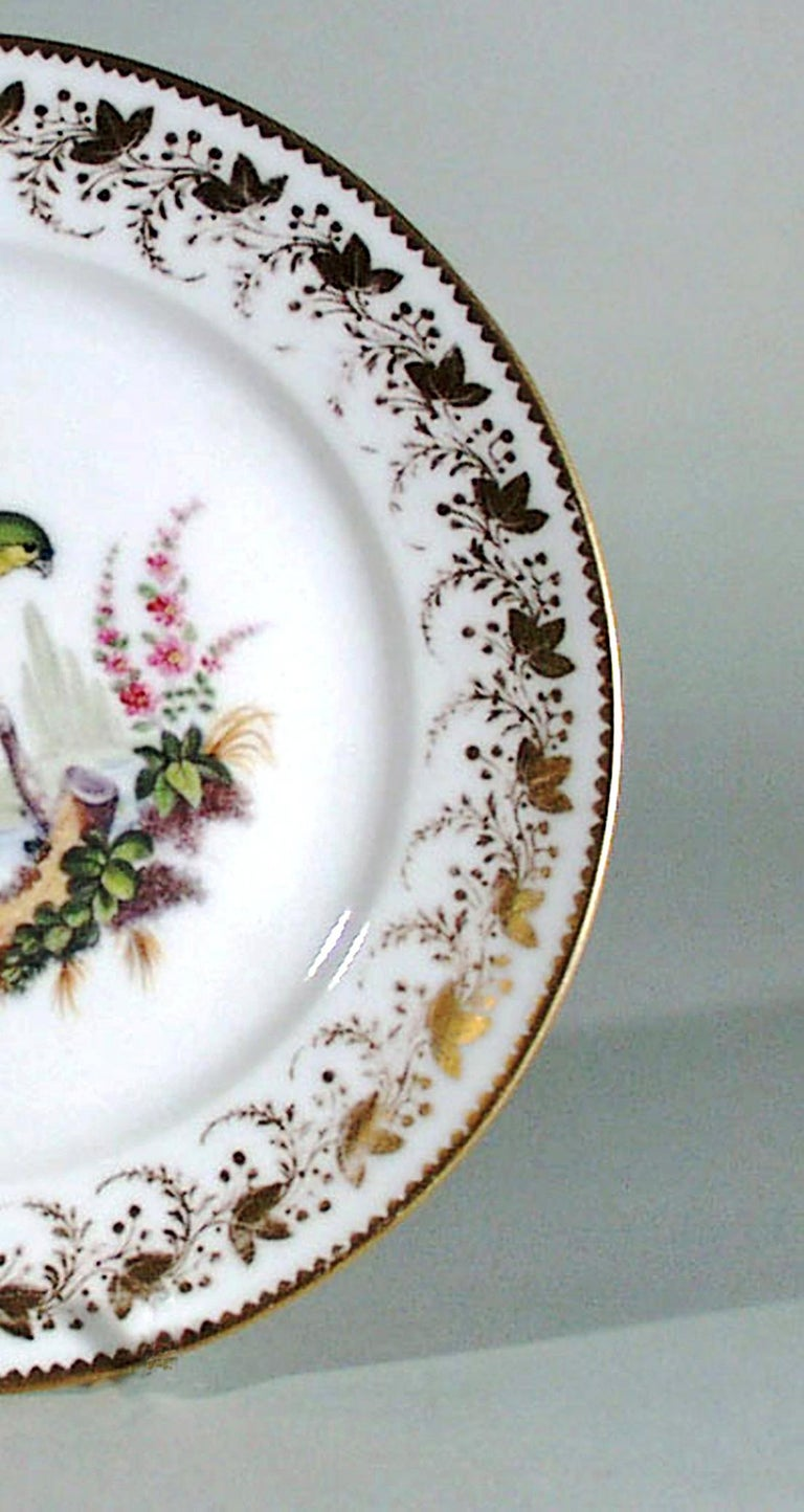 Antique & Rare London-Decorated Paris Porcelain Plate Probably by Thomas Randall For Sale 6