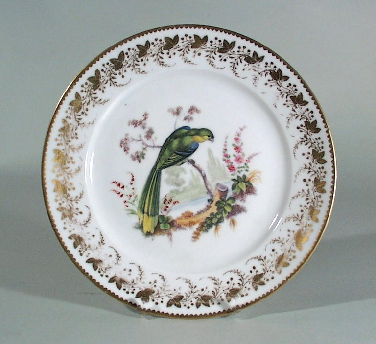 Georgian Antique & Rare London-Decorated Paris Porcelain Plate Probably by Thomas Randall For Sale