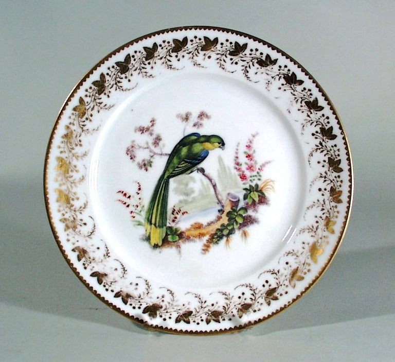 Antique & Rare London-Decorated Paris Porcelain Plate Probably by Thomas Randall For Sale 1