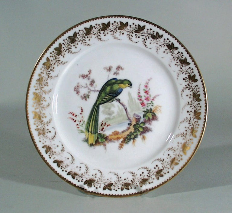 Antique & Rare London-Decorated Paris Porcelain Plate Probably by Thomas Randall For Sale 2