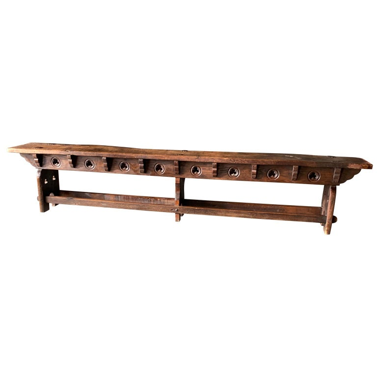 Swell Antique Long Narrow Wooden Church Or Tavern Bench At 1Stdibs Andrewgaddart Wooden Chair Designs For Living Room Andrewgaddartcom