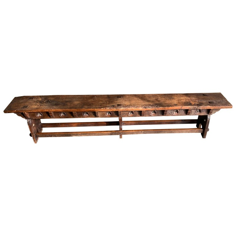Super Antique Long Narrow Wooden Church Or Tavern Bench At 1Stdibs Andrewgaddart Wooden Chair Designs For Living Room Andrewgaddartcom