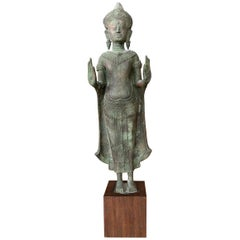 Antique Lopburi Buddha Statue from Thailand