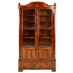 Antique Louis Philippe Bookcase/Vitrine in West Indies Mahogany, German