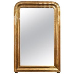 Antique Louis Philippe Gold Leaf Mirror circa 1850