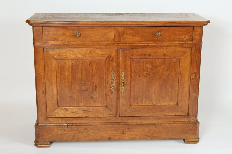 Antique Louis Philippe style fruitwood buffet, late 19th century.