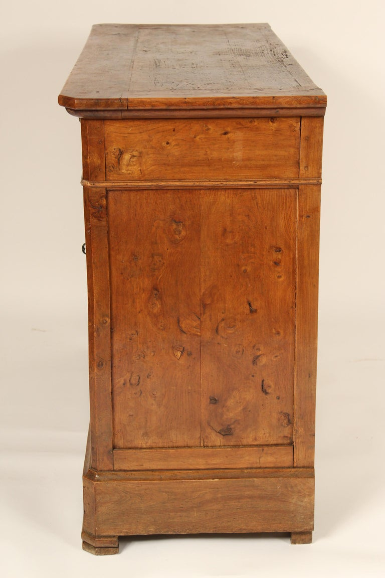 Antique Louis Philippe Style Fruitwood Buffet In Good Condition For Sale In Laguna Beach, CA