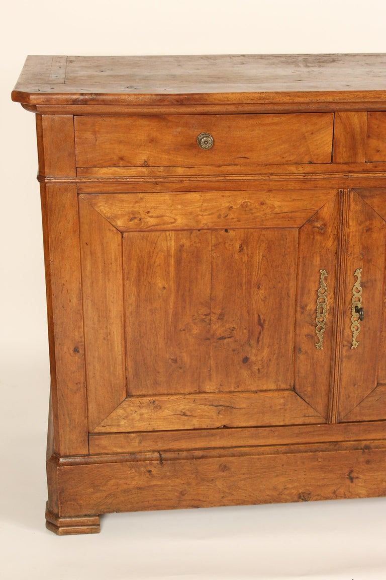 Antique Louis Philippe Style Fruitwood Buffet For Sale 3