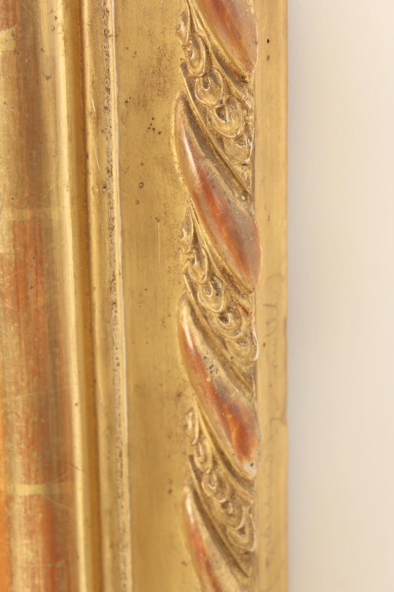 19th Century Antique Louis Philippe Style Gilt Wood Mirror For Sale