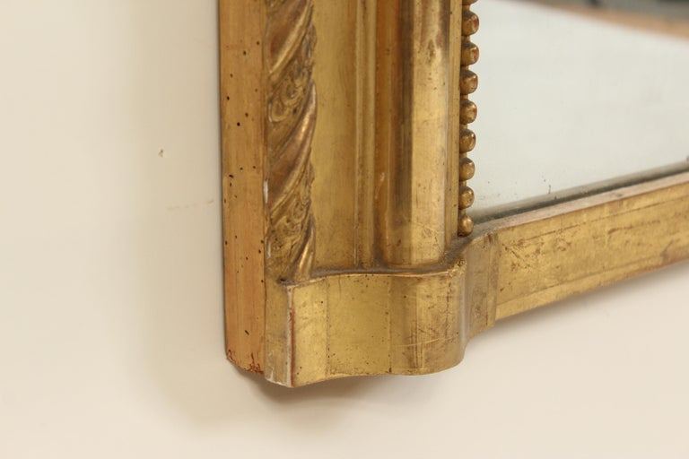 Antique Louis Philippe Style Gilt Wood Mirror For Sale 1