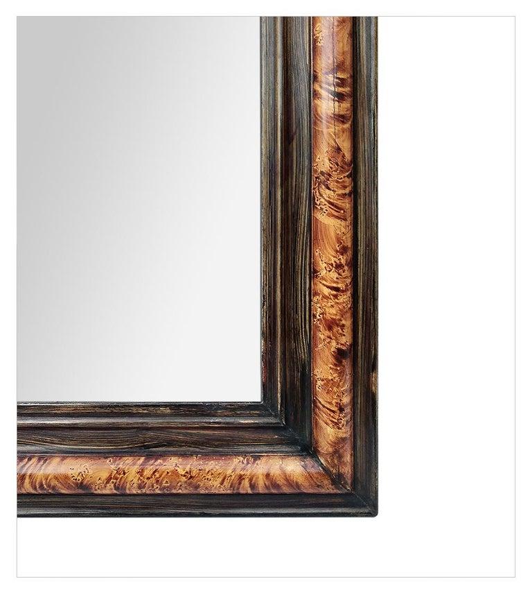 Faux Bois Antique Louis-Philippe Style Mirror, Faux Burl Wood, circa 1880 For Sale