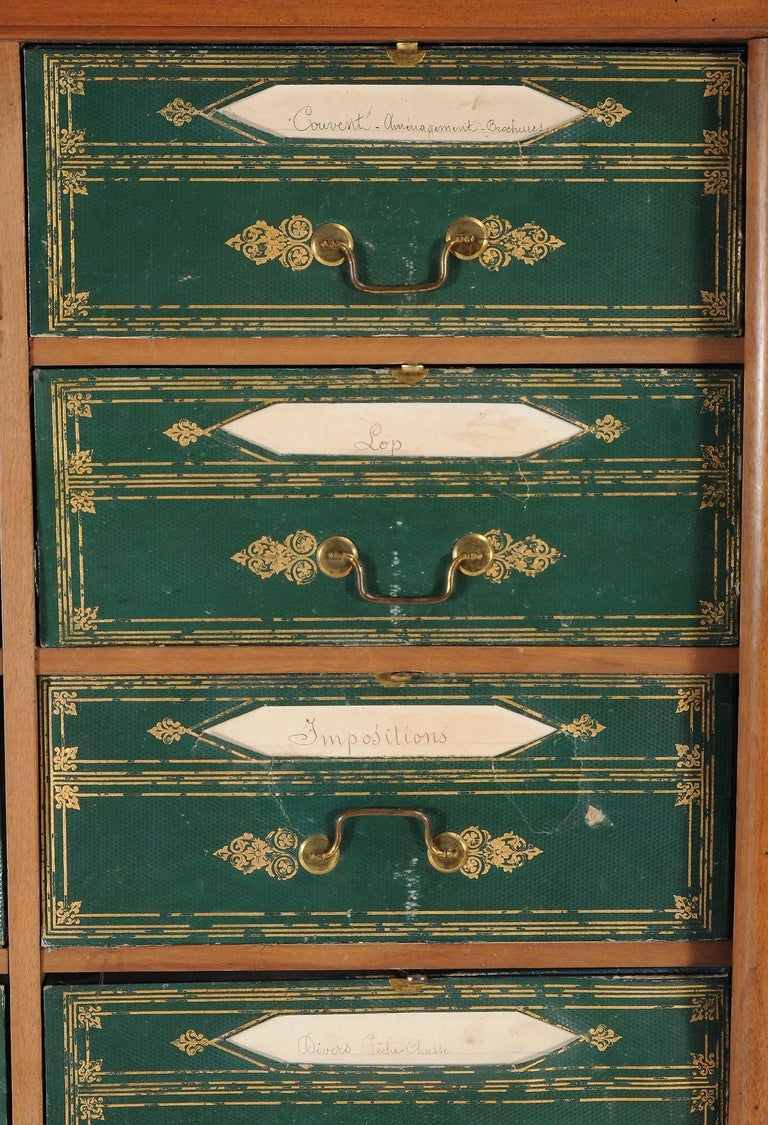 Early Victorian Antique Louis Phillipe Mahogany Cartonnier, 19th Century, circa 1840 For Sale