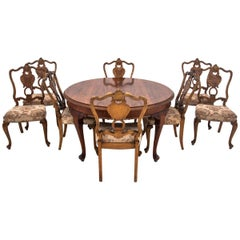 Antique Louis Phillipe Table with Eight Chairs, Western Europe, circa 1920