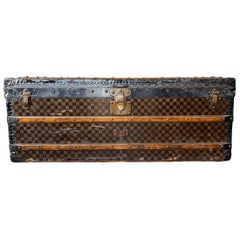 Antique Louis Vuitton Damier Steamer Trunk