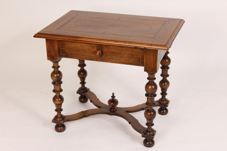 European Antique Louis XIV Style Walnut Occasional Table For Sale