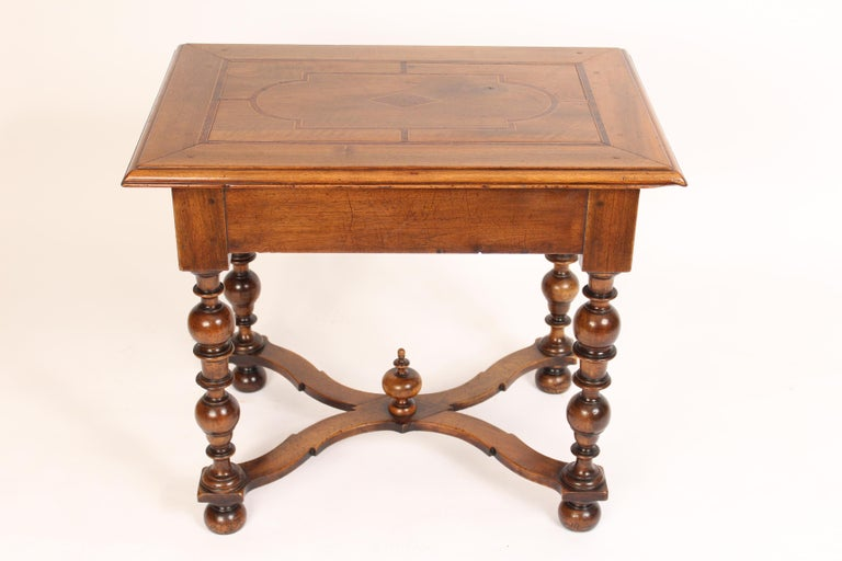 19th Century Antique Louis XIV Style Walnut Occasional Table For Sale