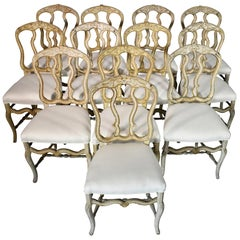 Set of 12 18th Century Louis XV Dining Chairs