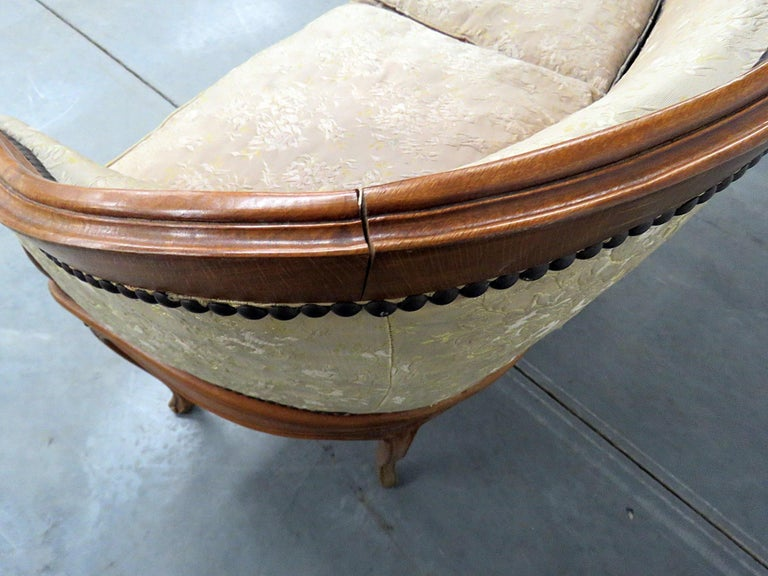 Antique Carved Walnut Louis XV Style Settee Sofa Canape For Sale 3