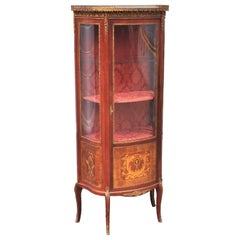 Antique Louis XV Style Vernis Martin China Display Cabinet/Vitrine, circa 1900