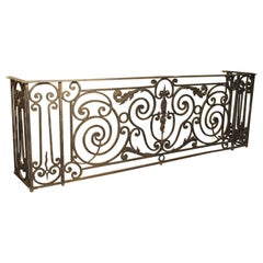 Antique Louis XV Style Wrought Iron Balcony Gate/Console