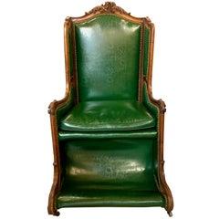 Antique Louis XV Walnut Hall Chair, circa 1900-1910