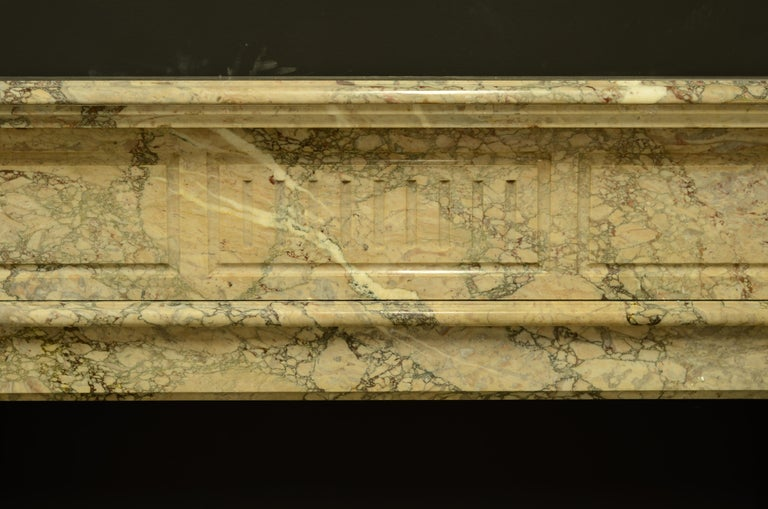 French Antique Louis XVI Fireplace Mantel in Beautiful Escalette Marble For Sale