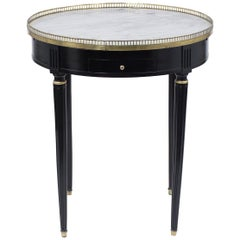 Antique Louis XVI Marble-Top Side Table