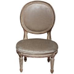 Antique Louis XVI Slipper Chair