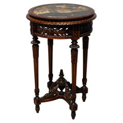 Antique Louis XVI Style Belgian Marble-Top Drink Stand, Circa 1900