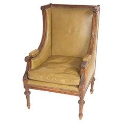 Antique Louis XVI Style Bergere