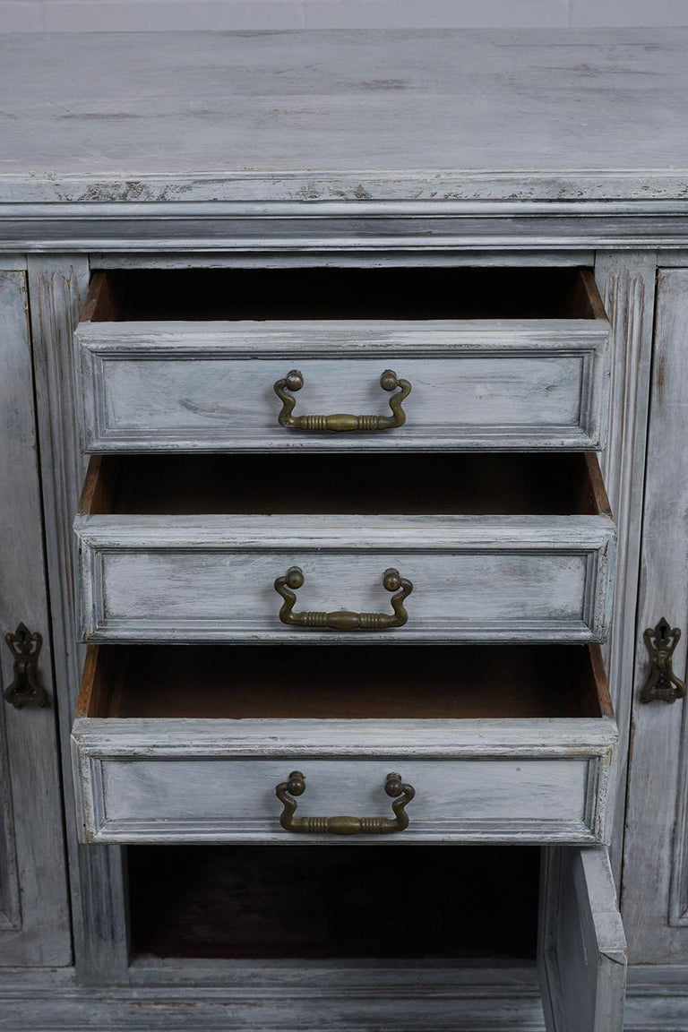 Brass Antique Louis XVI Style Buffet For Sale