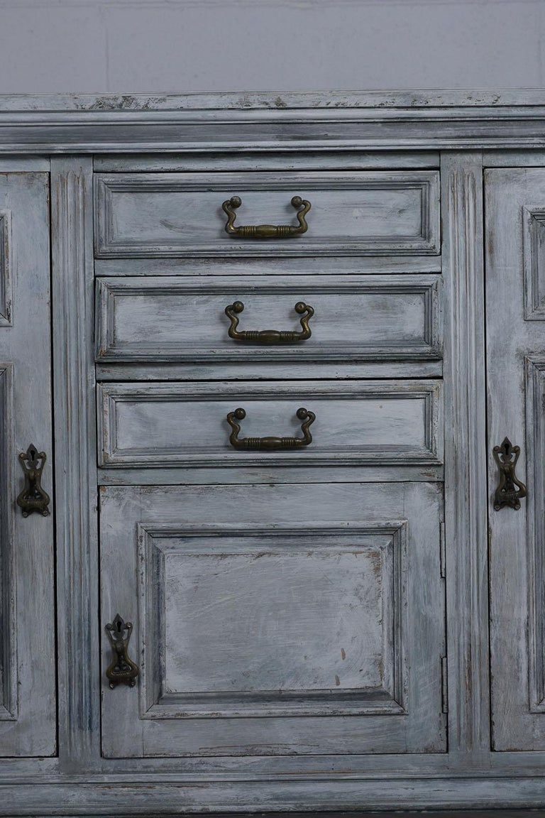 Hand-Painted Antique Louis XVI Style Buffet For Sale