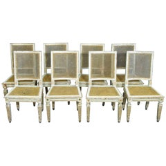 Antique Louis XVI Style Caned Chairs