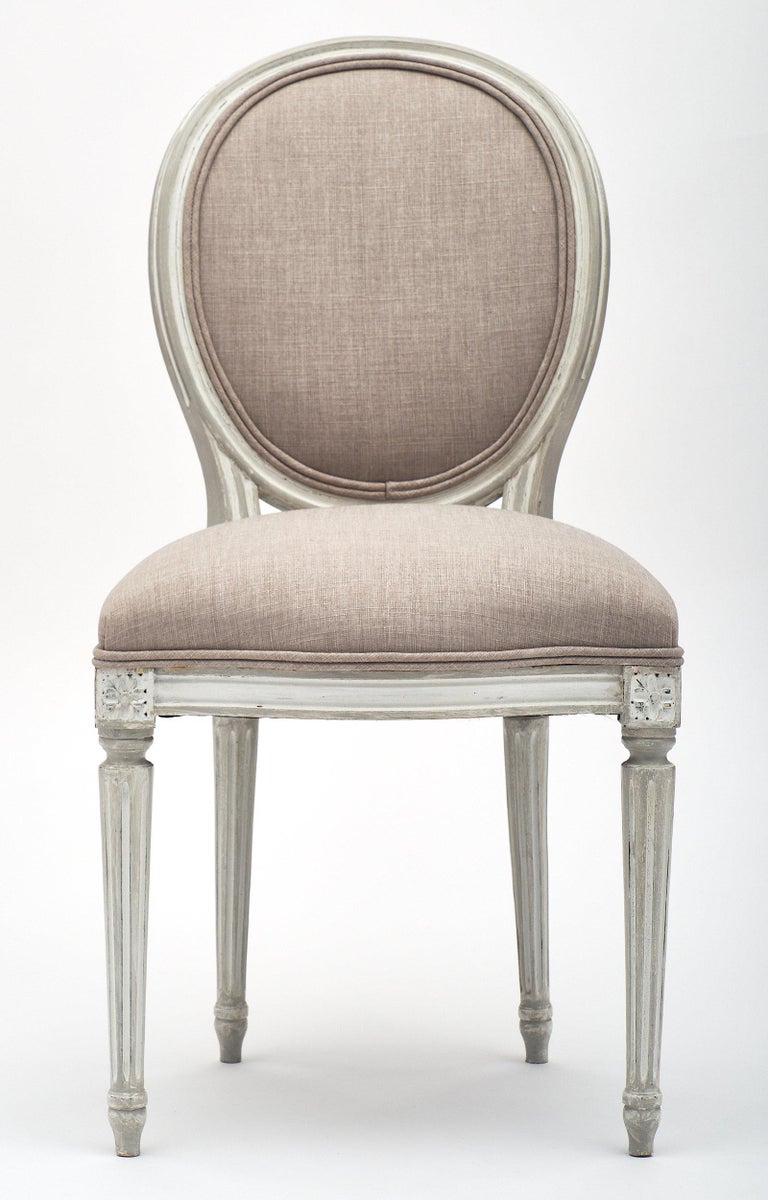 French Antique Louis XVI Style Dining Chairs For Sale